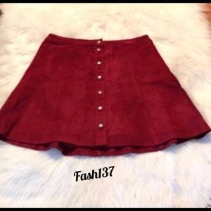 Abercrombie & Fitch Faux Suede A-Line Mini Skirt